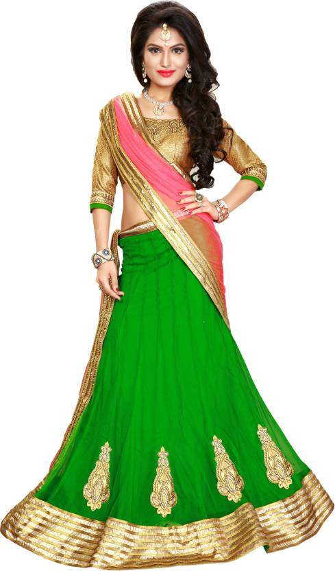 Kataria Net Self Design Semi-stitched Lehenga Choli Material easytadeway.com, best seller