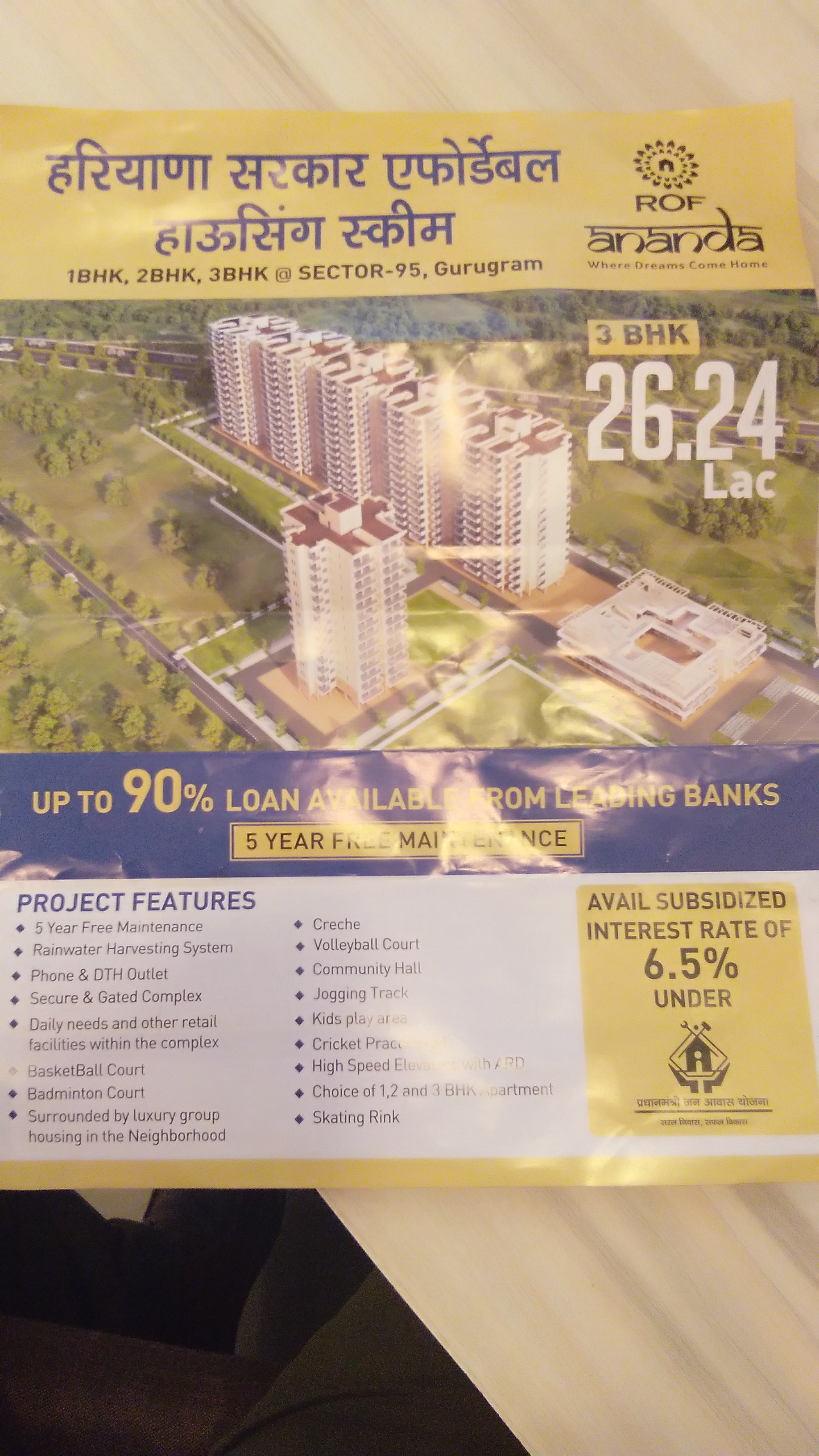 Affordable house Rof Ananda Sec-95