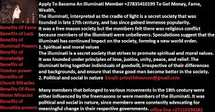 How To Join Illuminati Group And Get Rich Today +27634928462