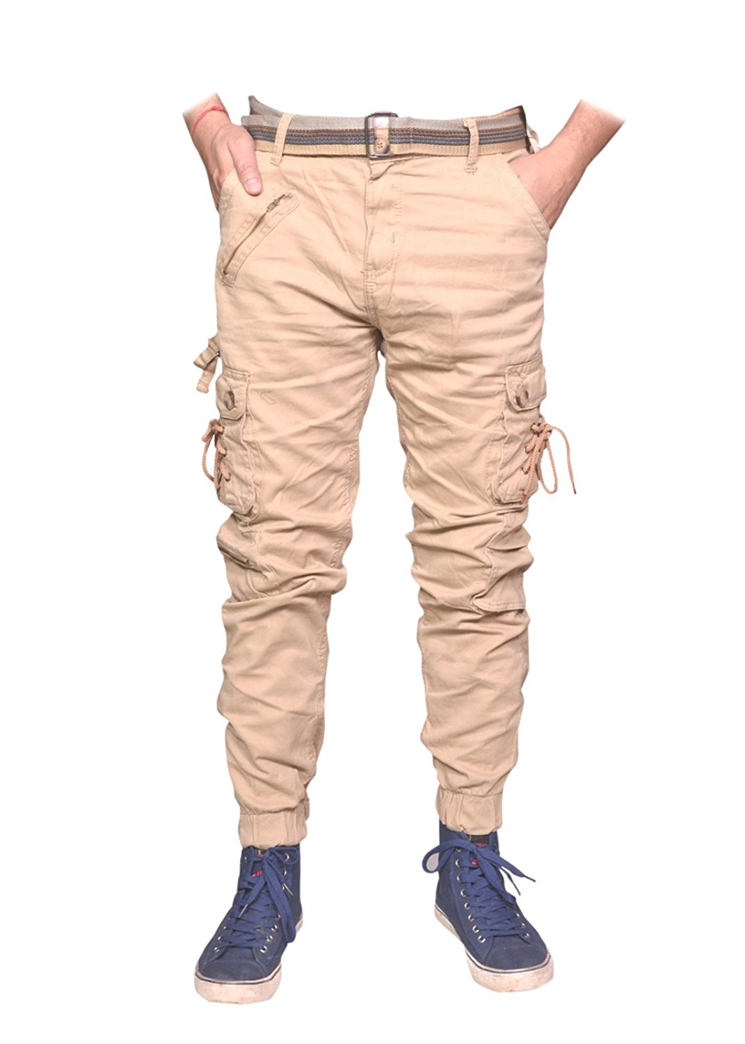 Men's Cotton Cargo Solid Pants | Zipper Cargo Jogger Pants | Men's Cotton Cargo Pants | Cotton Solid Relaxed Fit Zipper Cargo Jogger Pants for MEN (Dori Style)