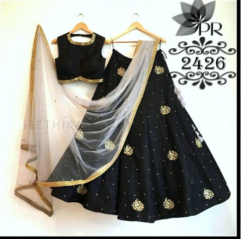 Buy Libas Fashion Black Color Designer Lehenga Online