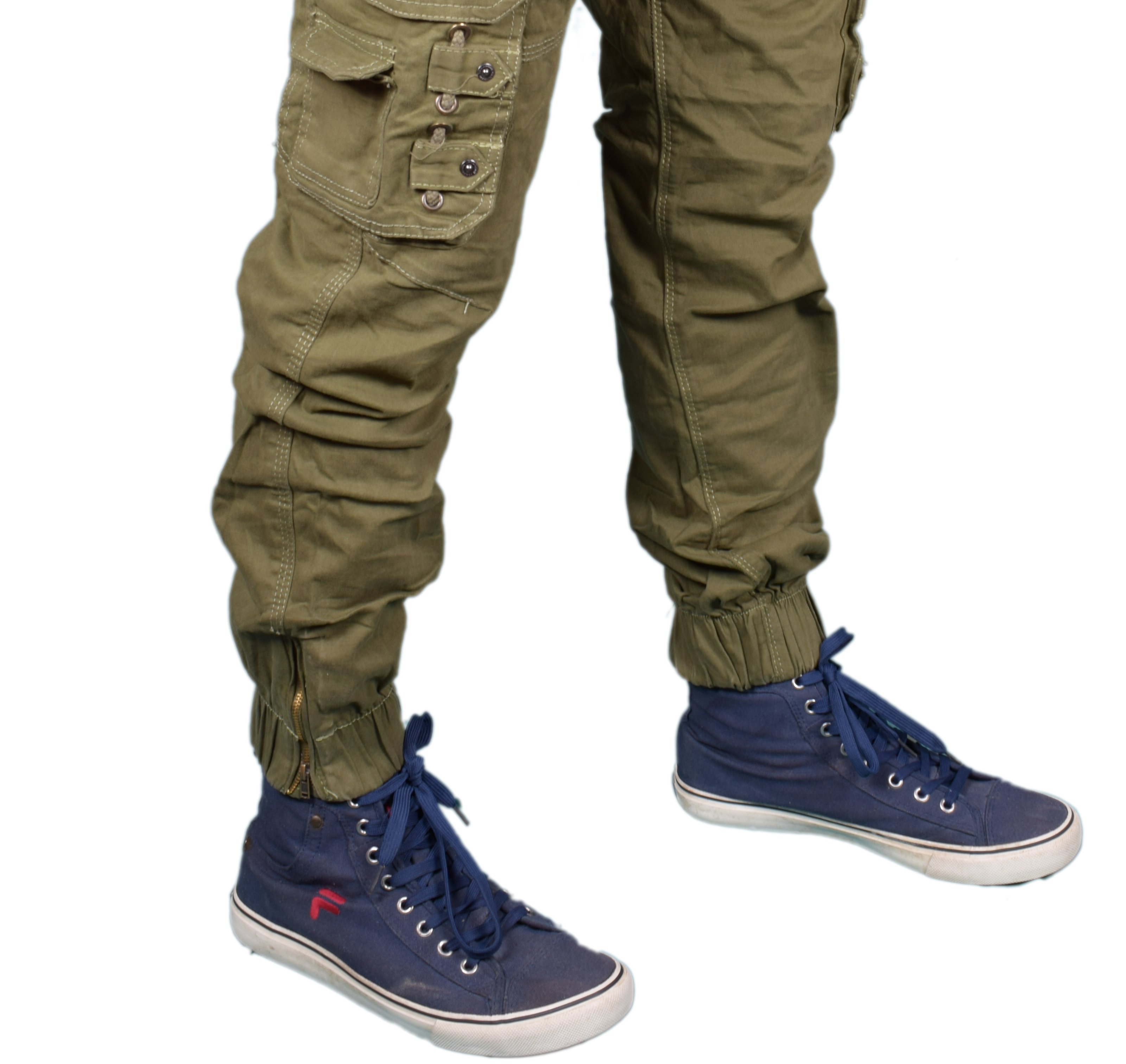 Stretchable Men's Dark Green Cotton Cargo Pants New| Stylist Cotton Solid Relaxed Fit Zipper Cargo Jogger Pants for Men | Comfortable 8 Pockets Zipper Cargo Pants