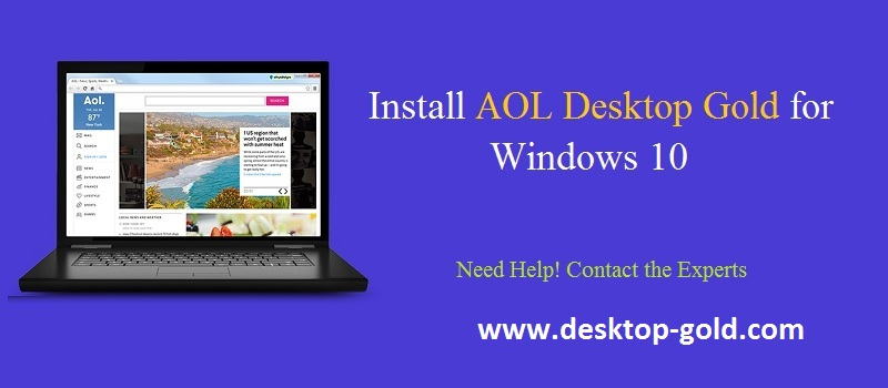 Install AOL Gold Desktop Gold for windows 10