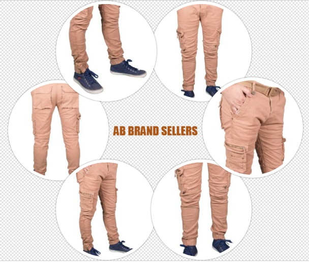 Stretchable Men's Cargo Cotton Solid Relaxed Fit Zipper Pants