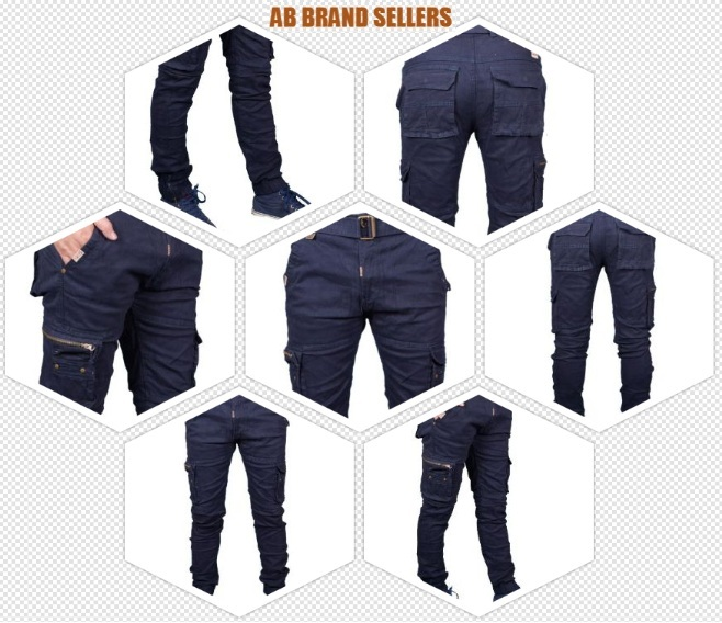 Stretchable Men's Dark Blue Cotton Cargo Pants New| Stylist Cotton Solid Relaxed Fit Zipper Cargo Jogger Pants for Men | Comfortable 8 Pockets Zipper Cargo Pants