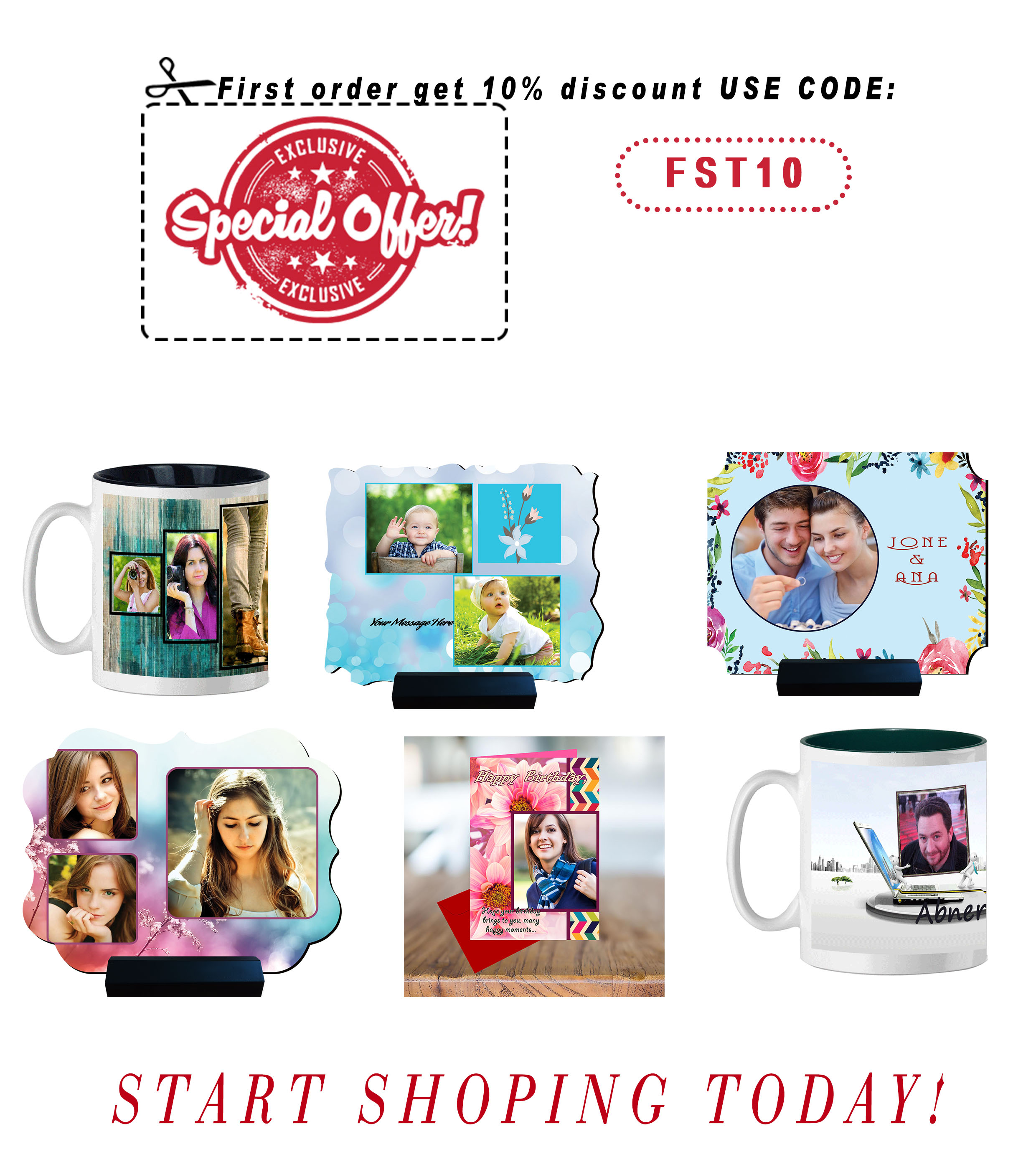 Order Personalised Gifts for your Loved One | Kadokart