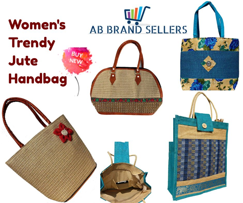 Women's Trendy Jute Handbag