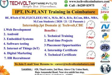 Asp.Net Summer Internship in Coimbatore