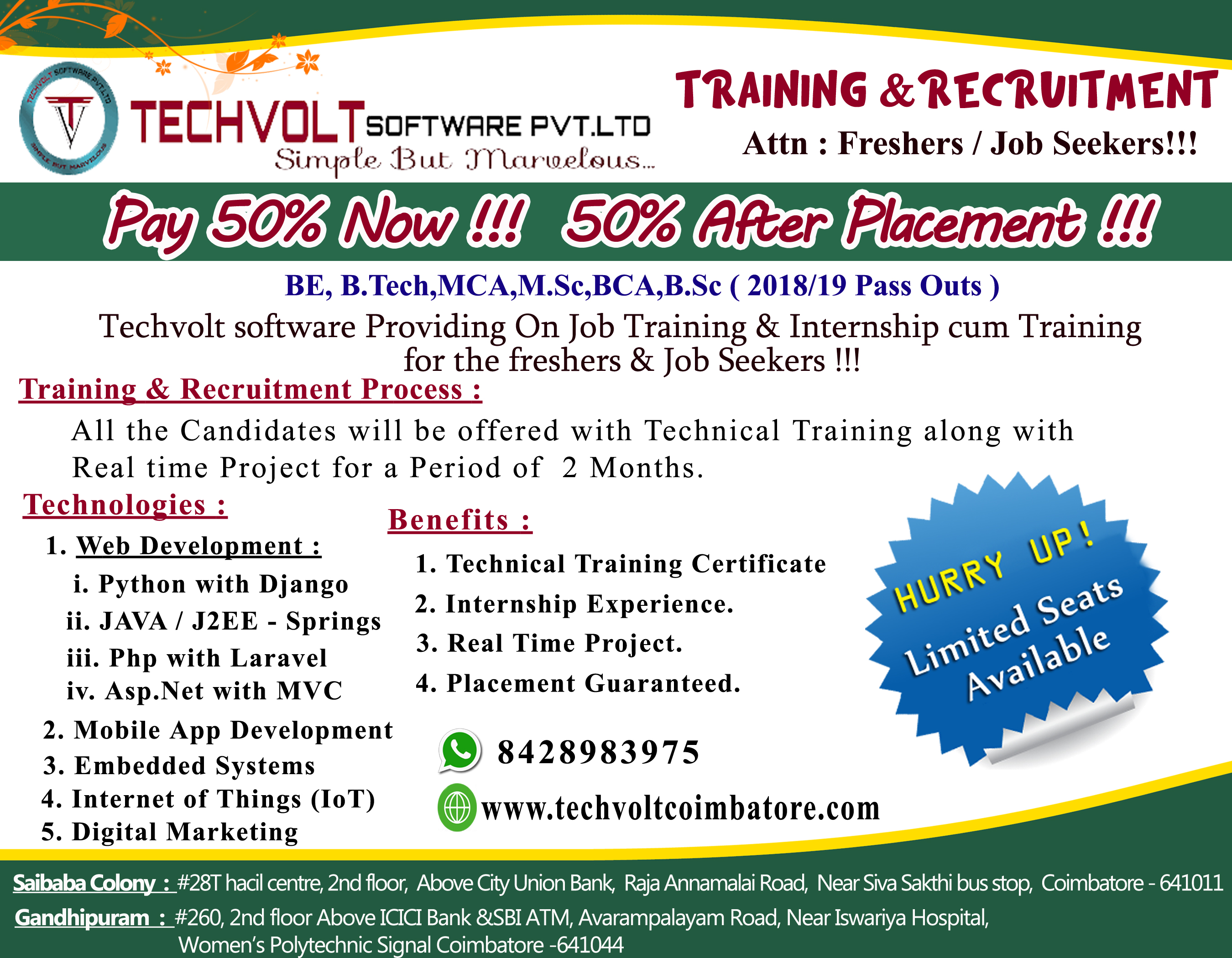 Training  In Coimbatore