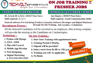 Internship Openings in Coimbatore