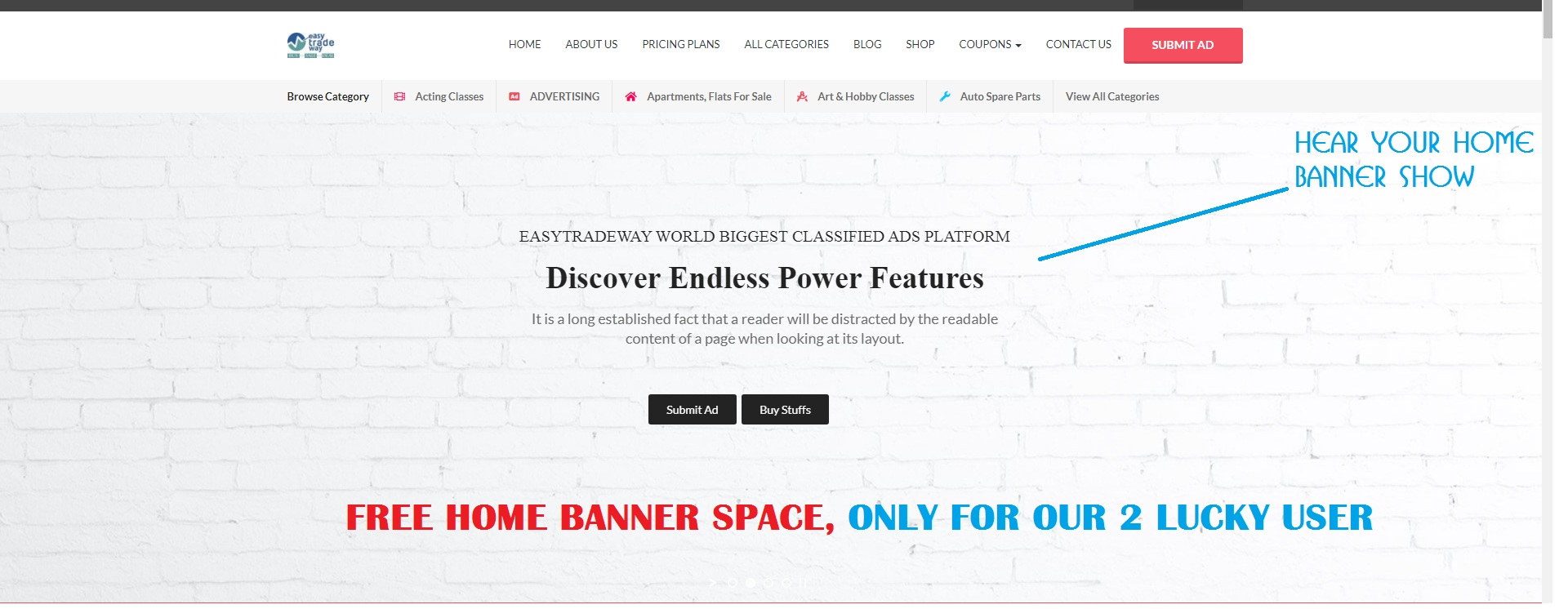 FASTIVAL OFFER— Free Home Banner & Store Pages Banner Ads