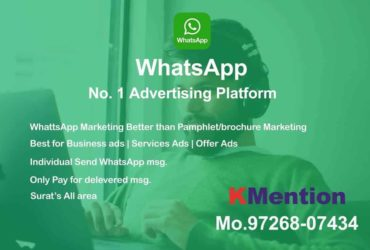 WhatsApp Marketing-Pamphlet Marketing in Surat By KMention