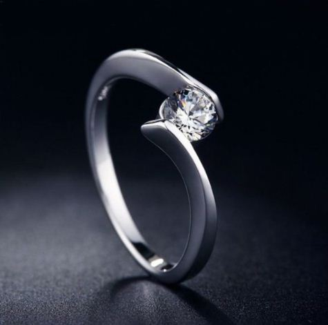 Buy 1 ct Moissanite Engagement Ring
