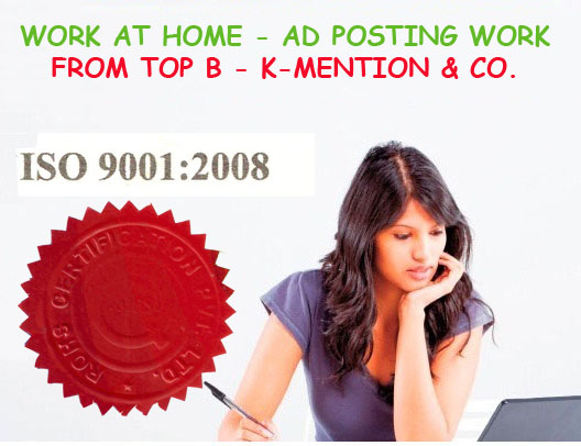 Simple Home based ads posting work and Part time job