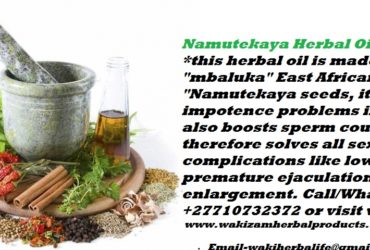 Namutekaya Herbal Oil For Impotency In Men Call +27710732372 Cape Town