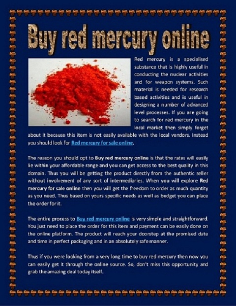 Liquid mercury for sale Call On (+27)787153652 where to buy liquid mercury- Pure red in South Africa