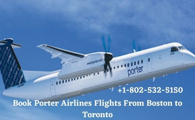 Book Porter Airlines Flights From Boston to Toronto